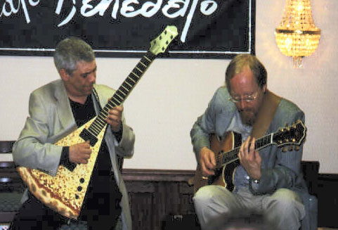 Jimmy Bruno - playing the Benedetto Pizzar - and Adrian Ingram