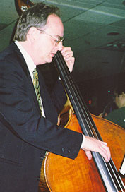 Tasteful bassist Dick Sarpola accompanied with excellent timing and feel